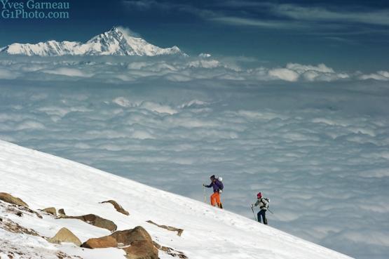 Aufstieg Apharwat mit Blick auf Nanga Parbat