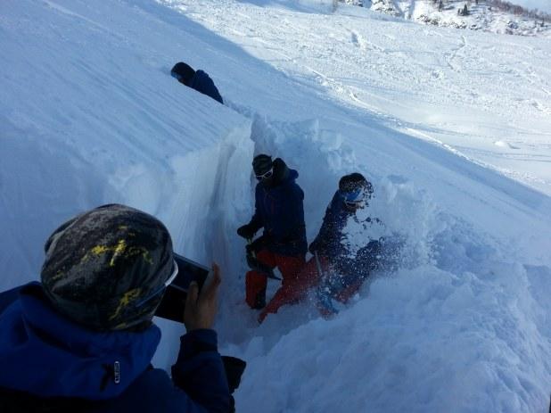 Gulmarg Schnee Profil